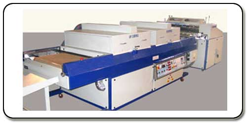 	ROLLER COATER AND CURING MACHINE